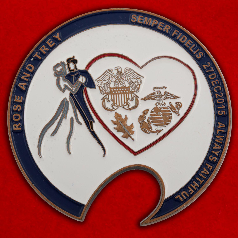 Челлендж коин Благотворительного фонда поддержки раненым ветеранам ВС США и их семьям