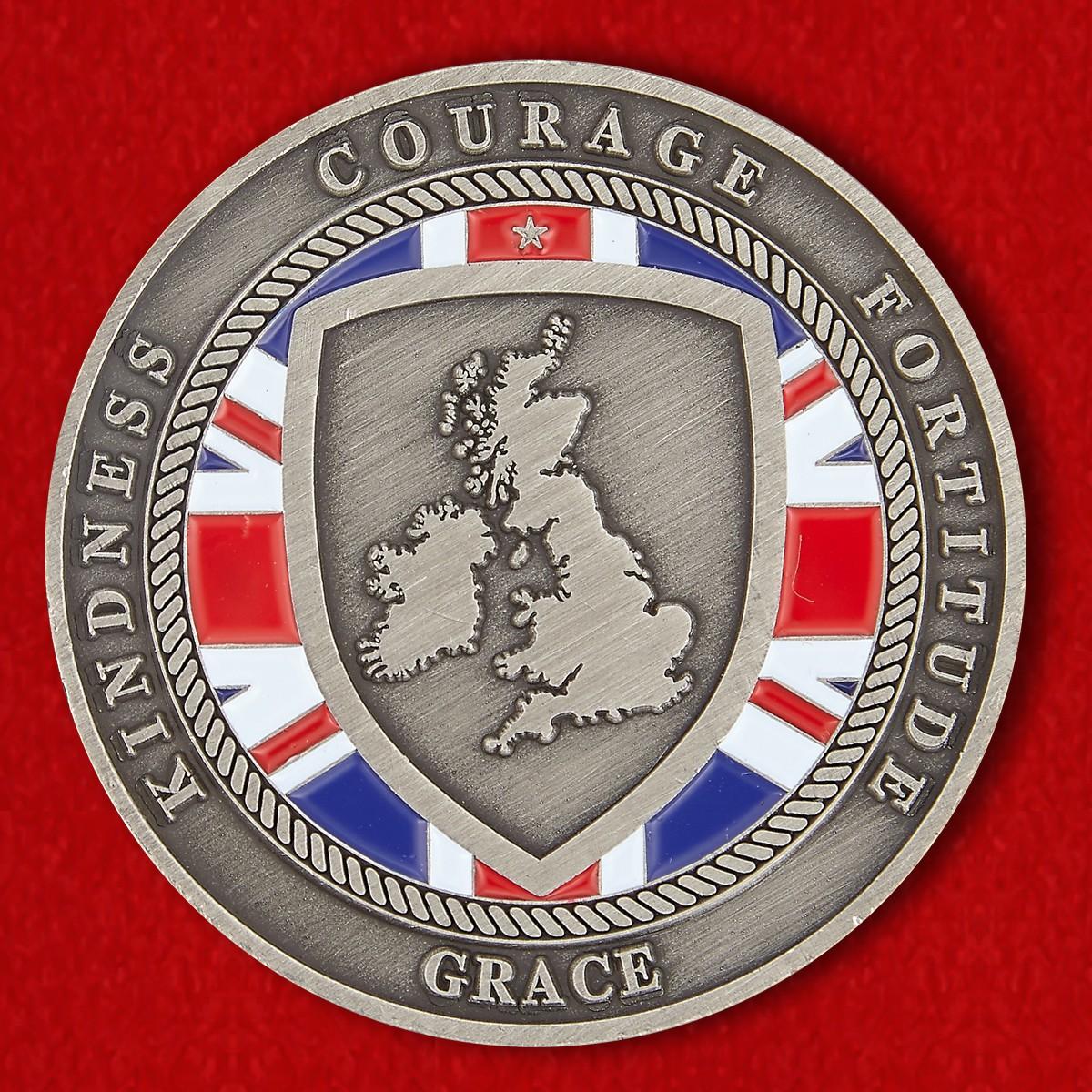 Челлендж коин благотворительной организации Королевского Британского легиона в Таиланде