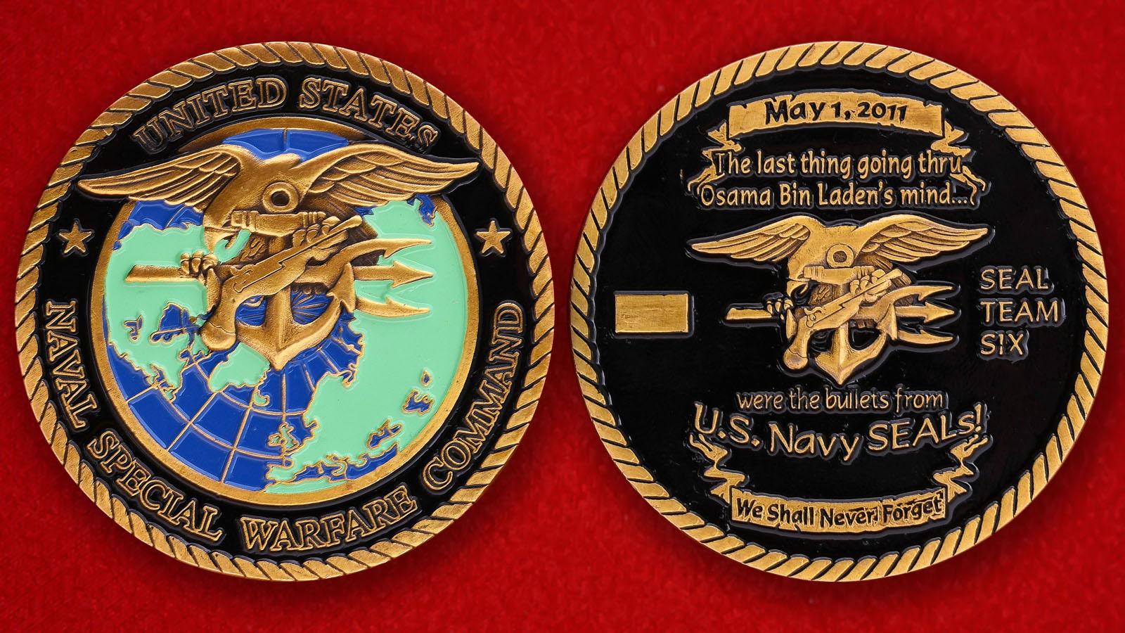 Челлендж коин боевых пловцов ВМС США