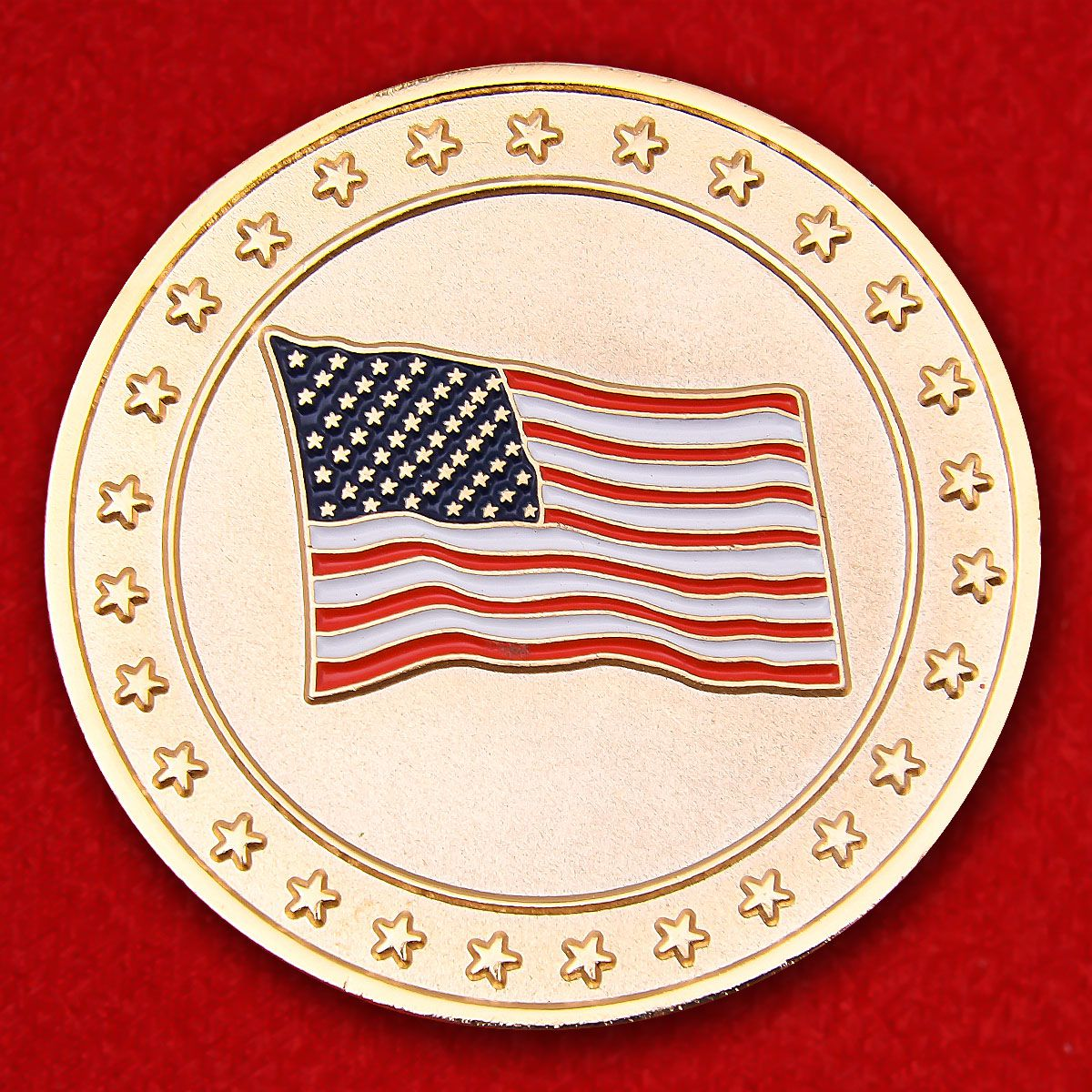 "Челлендж коин ""Боже, храни Америку"""