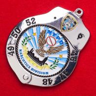 """Челлендж коин-брелок в виде наручников """"Отдел по борьбе с оборотом наркотиков полиции Нью-Йорка"""""""
