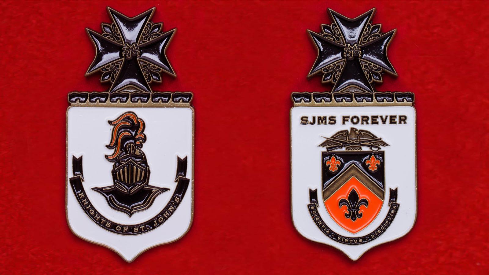 Челлендж коин частной военной школы Св. Иоанна в г. Салина, Канзас