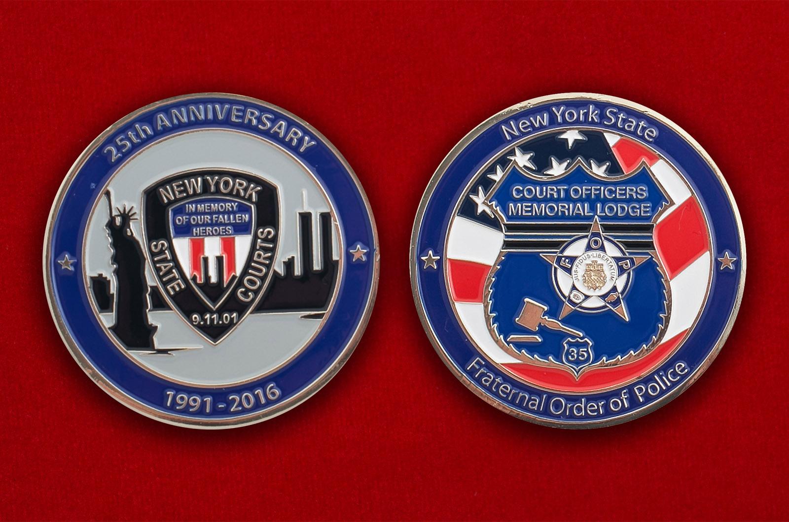 Челлендж коин членов Ордена полицейского братства штата Нью-Йорк
