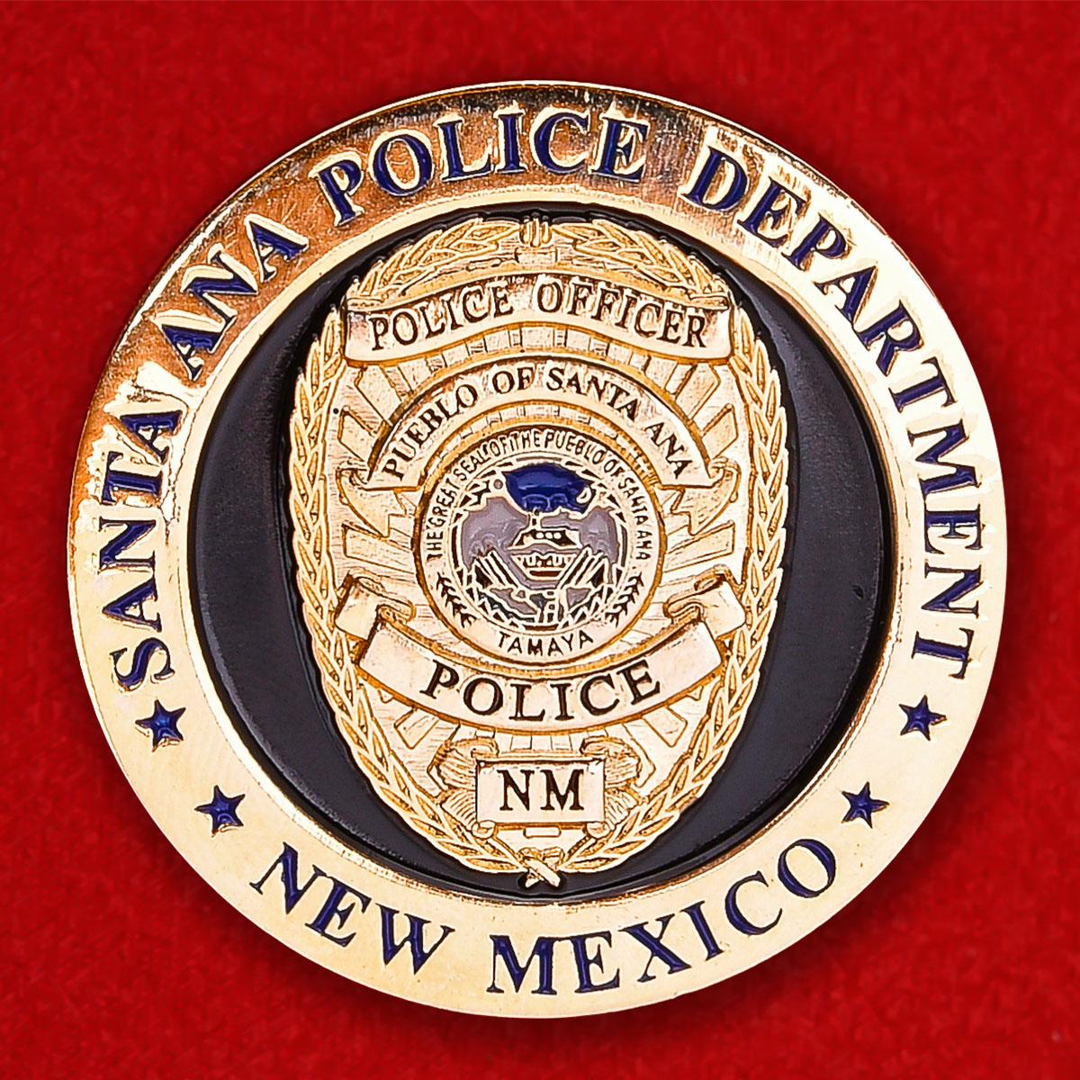 "Челлендж коин ""Департамент полиции Пуэбло Санта-Ана, Нью-Мексико"""