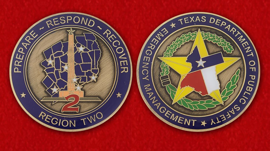 Челлендж коин Департамента Общественной безопасности Техаса - аверс и реверс