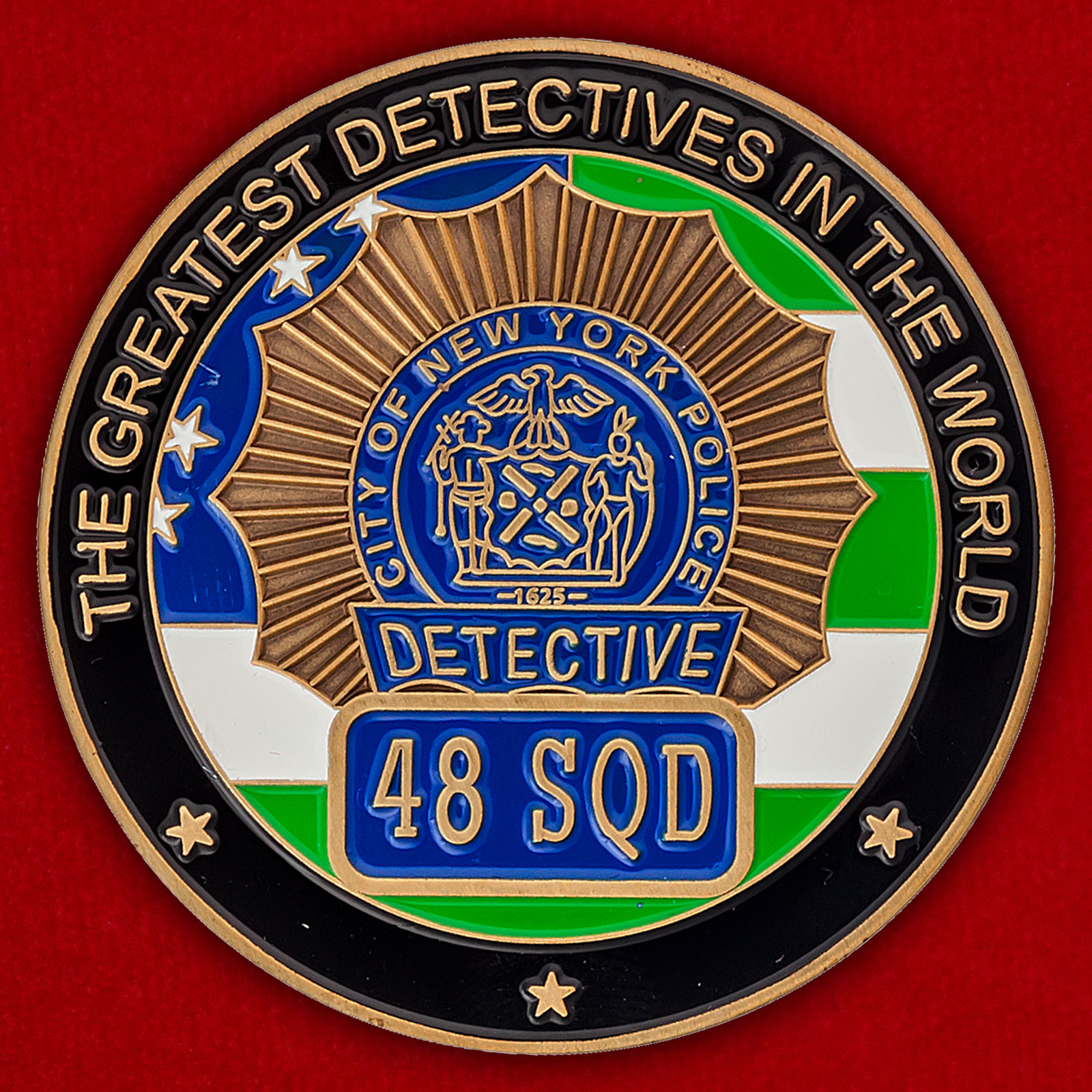 Челлендж коин детективов 48-го участка полицейского управления Нью-Йорка