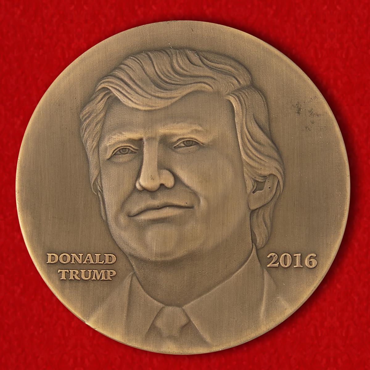 """Челлендж коин """"Дональд Трамп"""" - оборотная сторона"""
