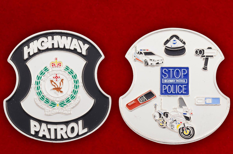 Челлендж коин Дорожного патруля полиции Нового Южного Уэльса (Австралия) - аверс и реверс