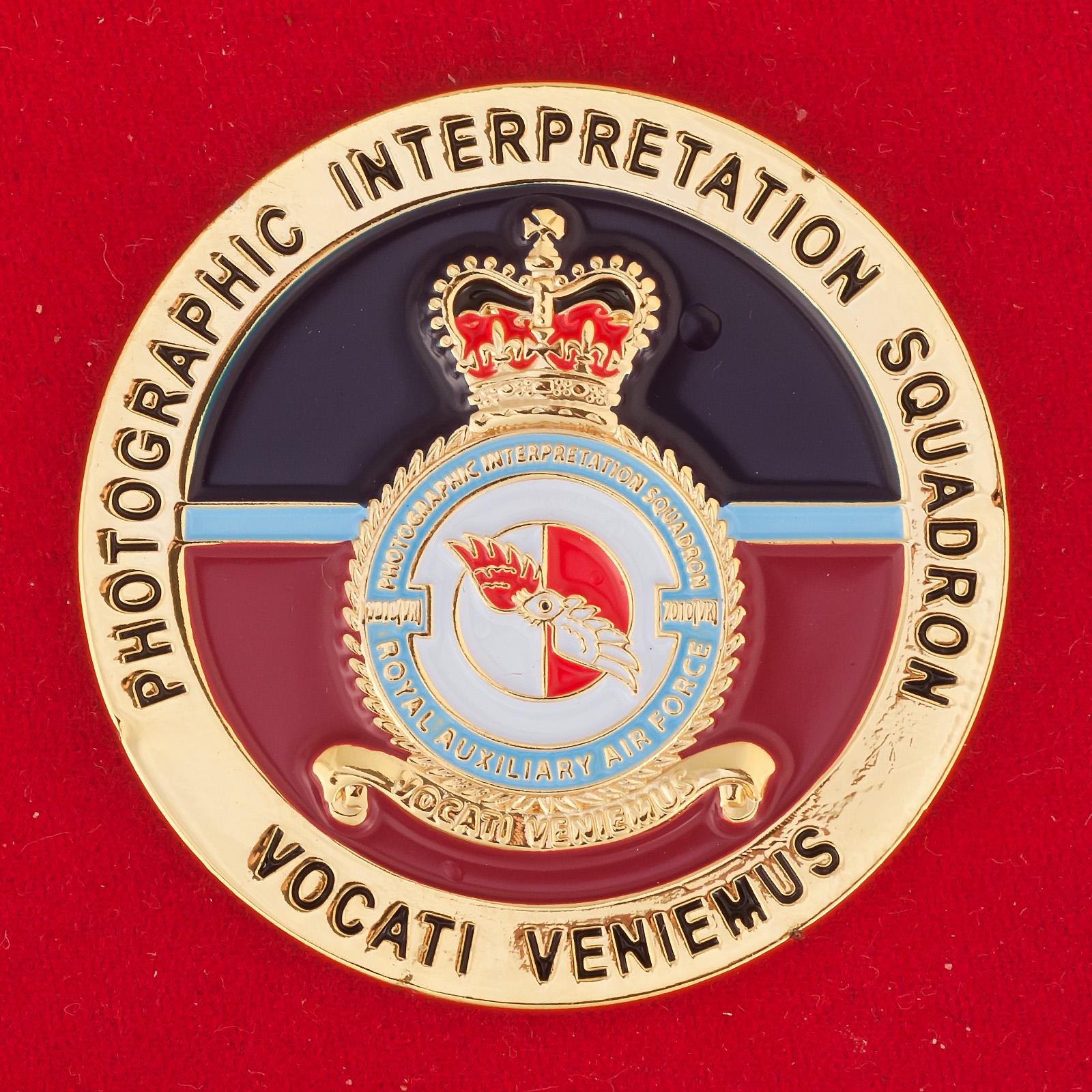 Челлендж коин эскадрильи дешифрования фотоснимков Королевских ВВС Великобритании