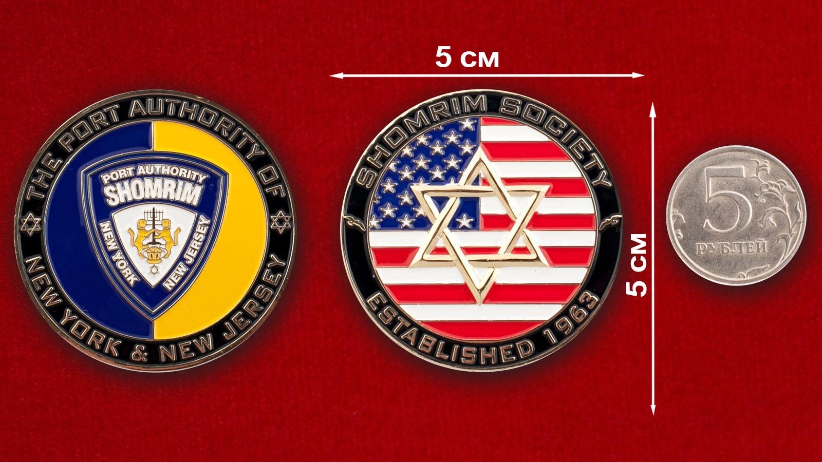 """Челлендж коин еврейского сообщества """"Шомрим"""" в Управлении полиции Нью-Йорка"""