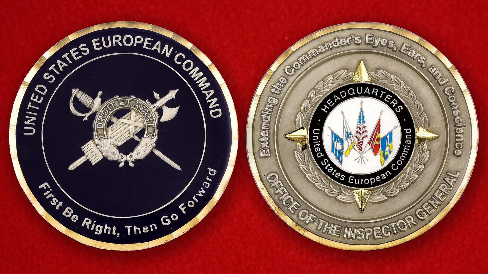 """Челлендж коин """"Европейское командование ВС США"""""""