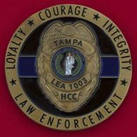 Челлендж коин факультета уголовного права колледжа Хиллсборо в Тампе, США