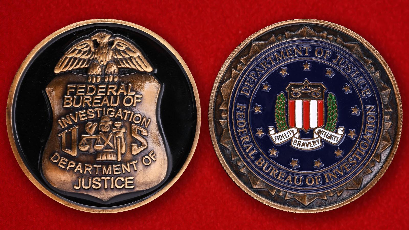 Челлендж коин Федерального Бюро Расследования