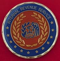 Челлендж коин Федеральной налоговой службы США