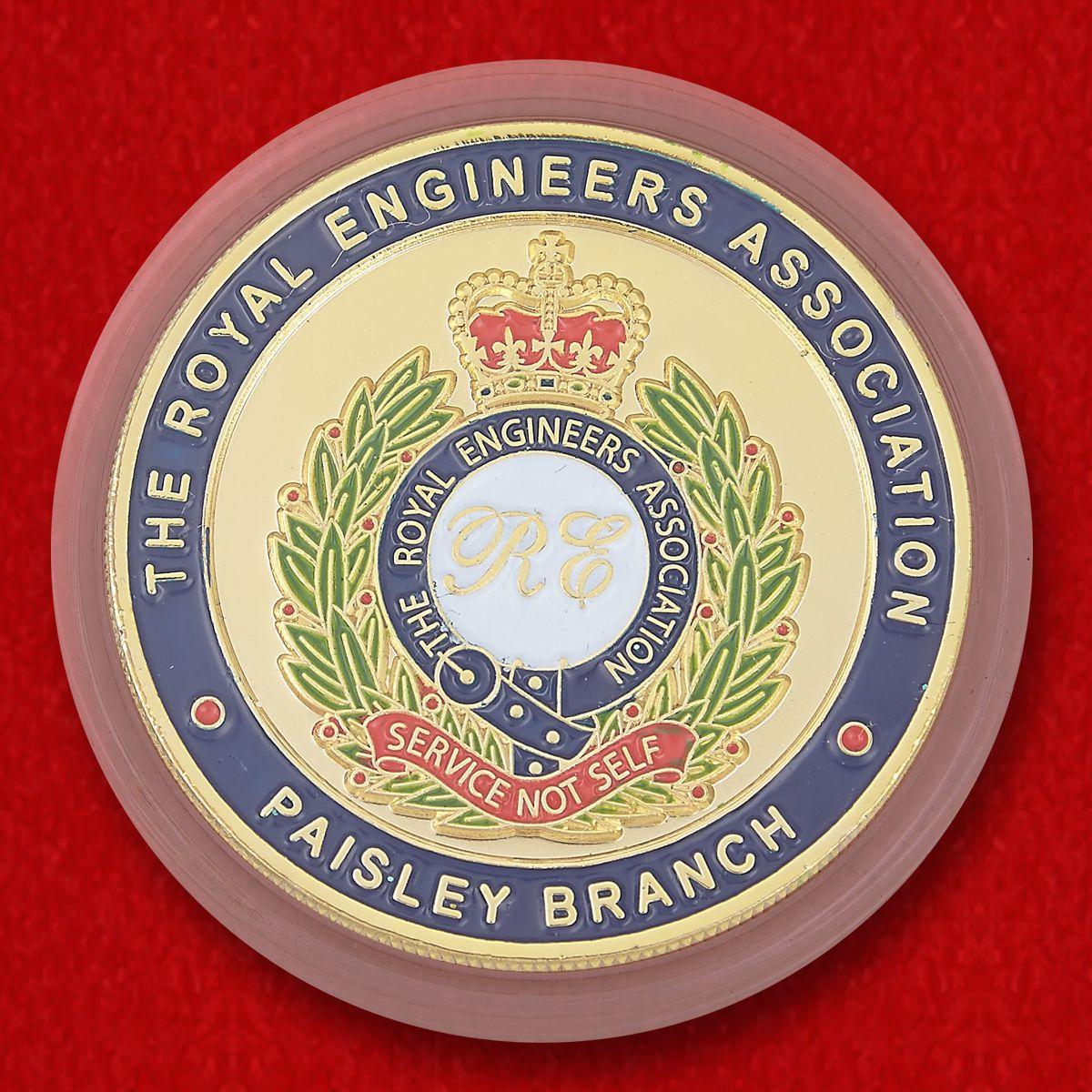 Челлендж коин филиала Общества Королевских инженеров (в отставке) в Пейсли