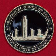 Челлендж коин филиала Ордена полицейского братства в Нью-Йорке