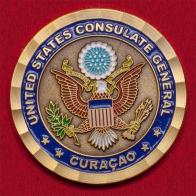 Челлендж коин Генерального консульства США на Кюрасао