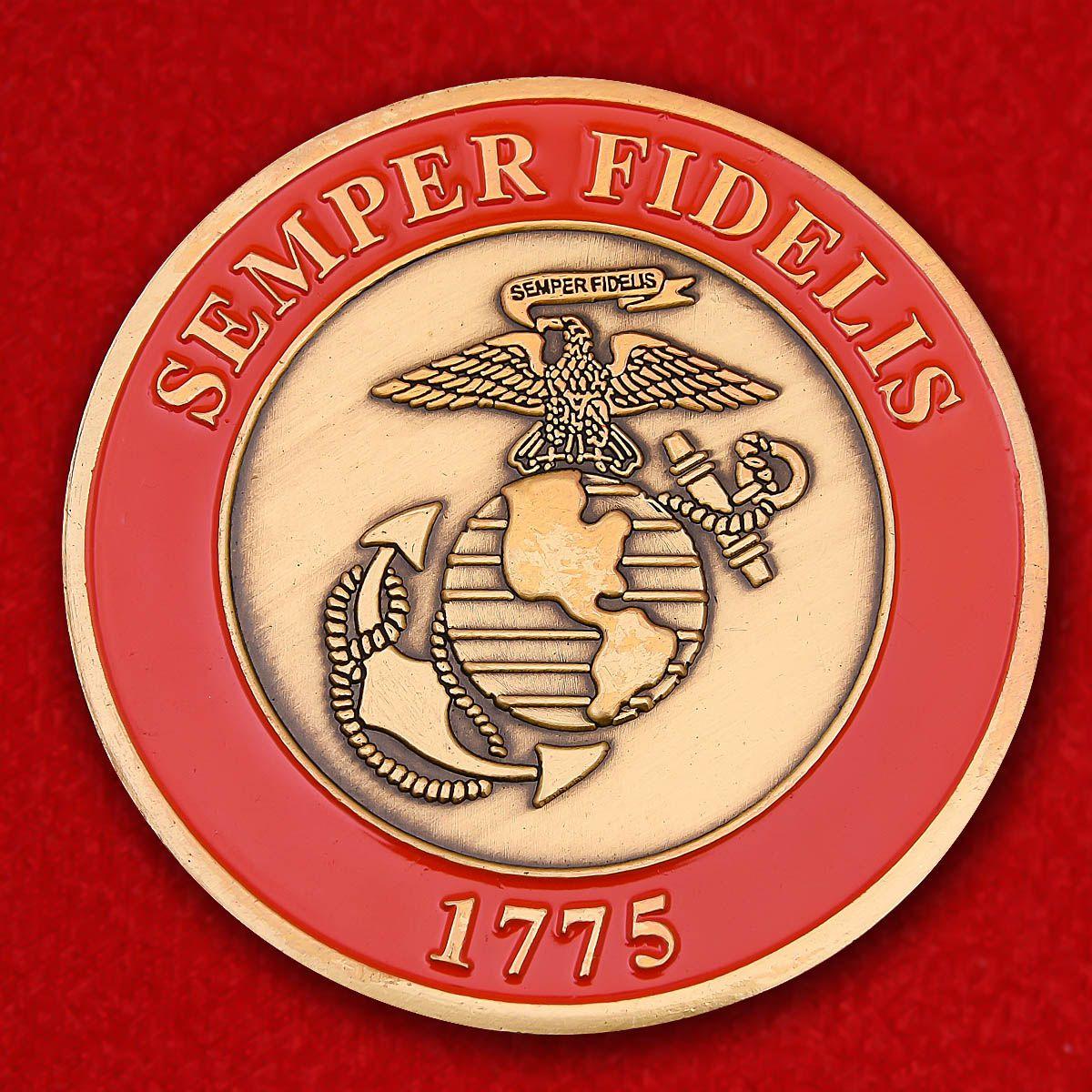 "Челлендж коин ""Главком Корпуса Морской пехоты генерал Джеймс Ф. Эймос"""