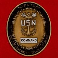 Челлендж коин главного мастер чиф-петти-офицера Чарльза Кларка, 5-й флот ВМС США