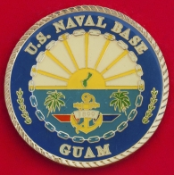 Челлендж коин главного мастер чиф-петти-офицера Джона Лоури, база ВМС США на Гуаме