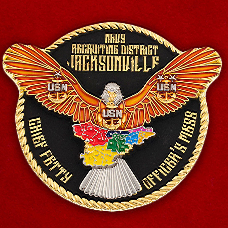 Челлендж коин Главного сташины рекрутингового центра ВМС США в Джексонвилле