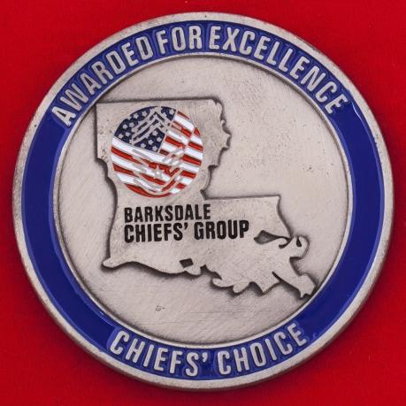 Челлендж коин главных мастер-сержантов и уорент-офицеров авиабазы Барксдейл ВВС США
