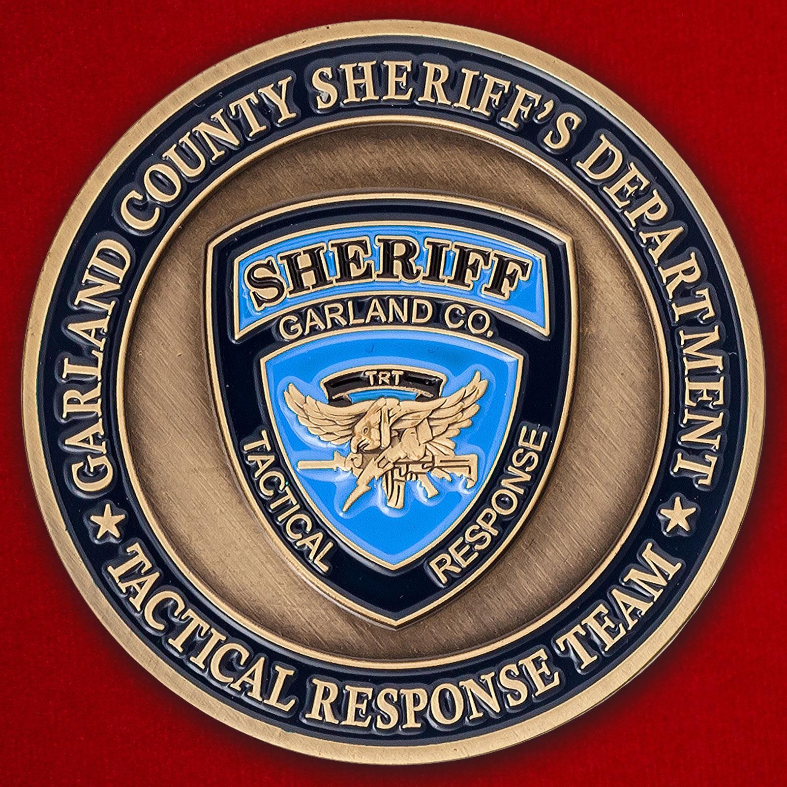 """Челлендж коин """"Группа быстрого реагирования офиса шерифа в округе Гарланд, Арканзас"""""""