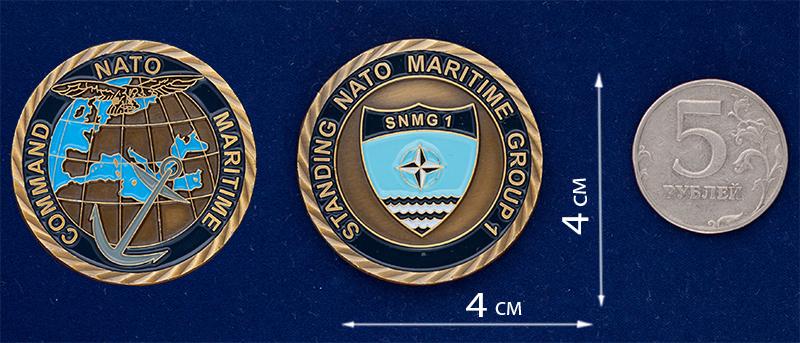 """Челлендж коин """"Группа быстрого реагирования ВМС НАТО"""""""