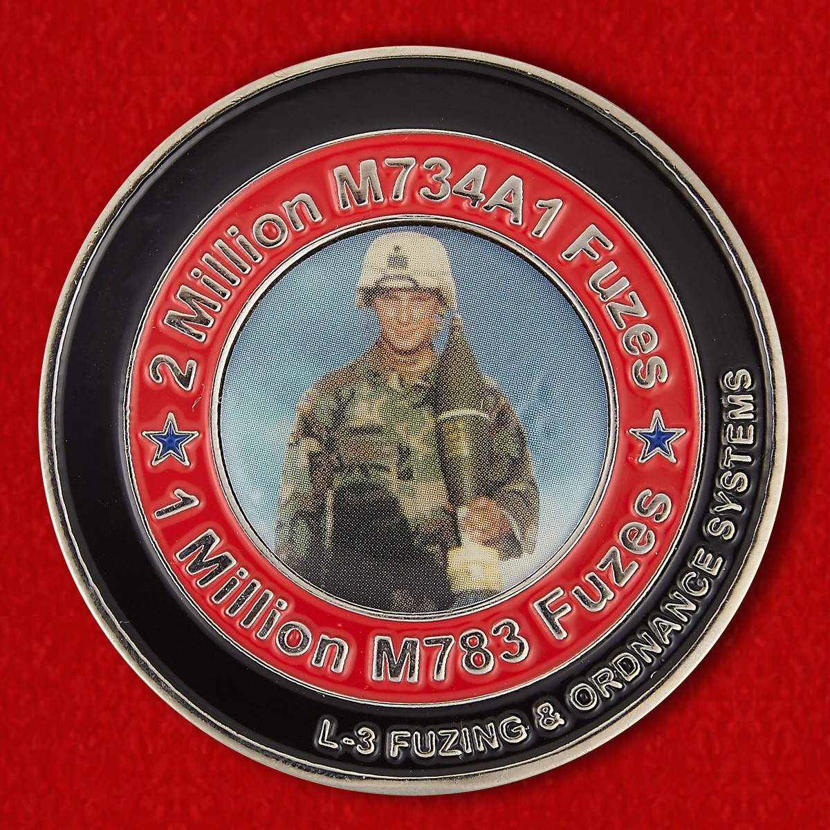 Челлендж коин группы специалистов по обезвреживанию минометных взрывателей Корпуса морской пехоты США - аверс