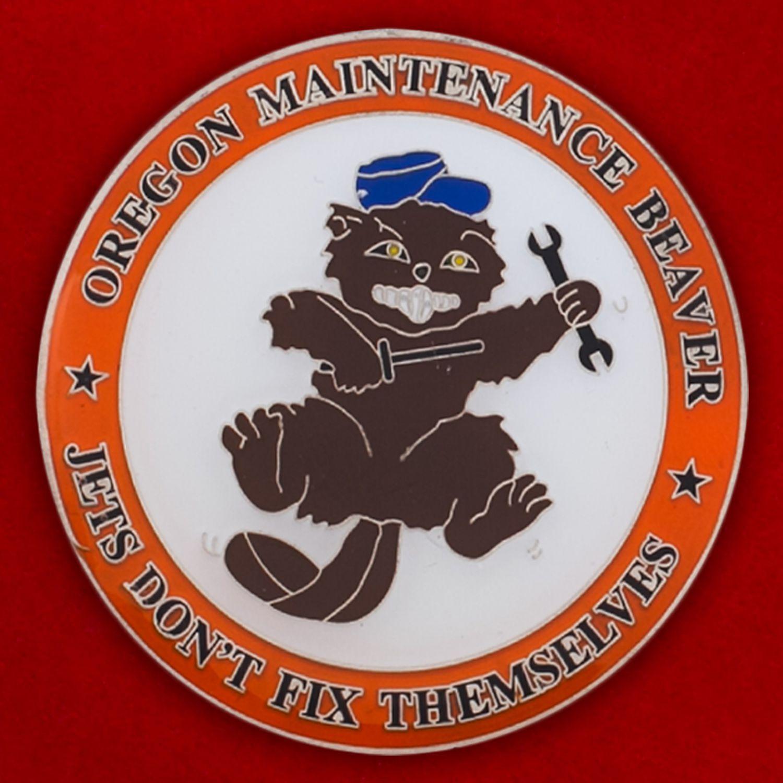 Челлендж коин группы технического обслуживания 142-го авиакрыла Нацгвардии США