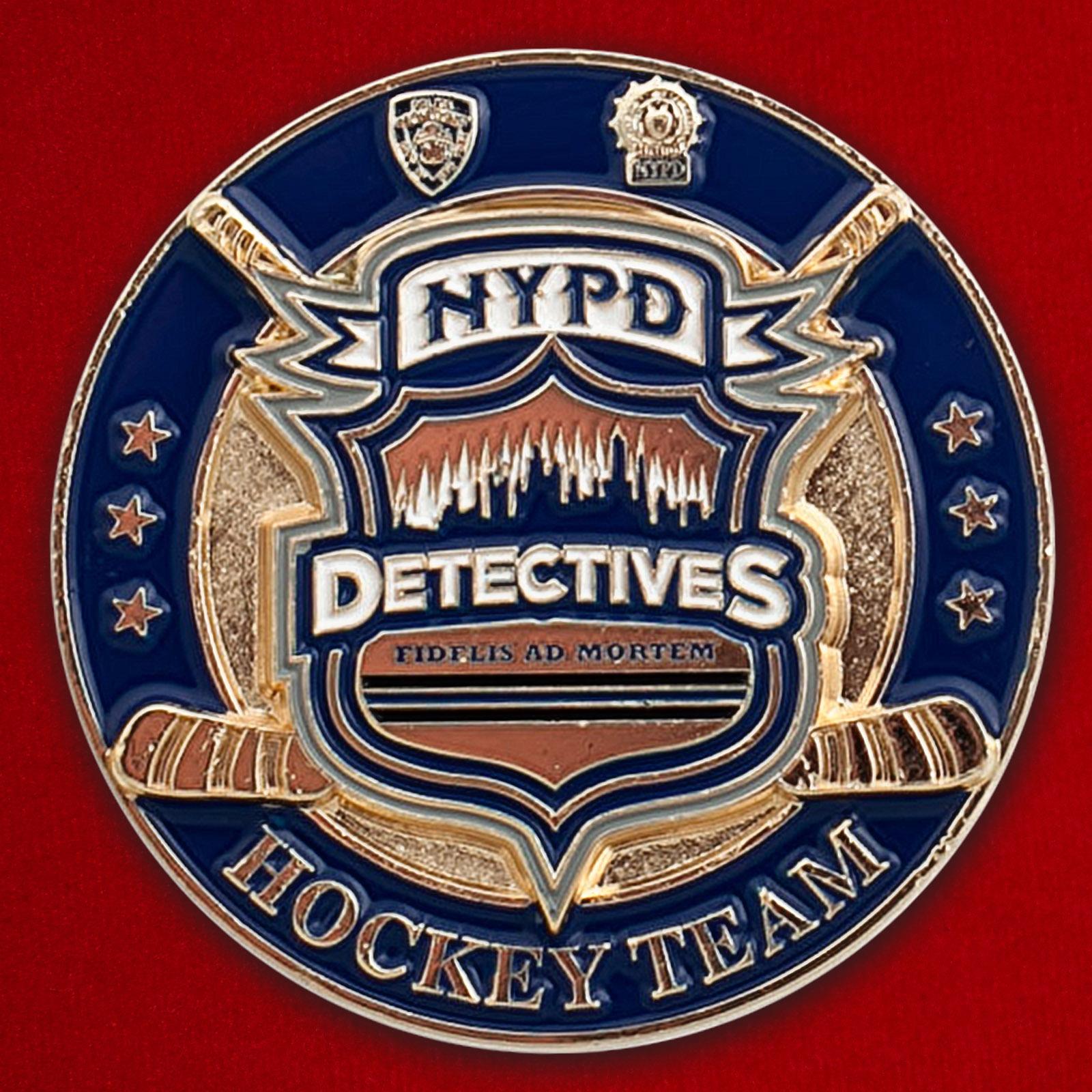 Челлендж коин хоккейной команды детективов Управления полиции Нью-Йорка