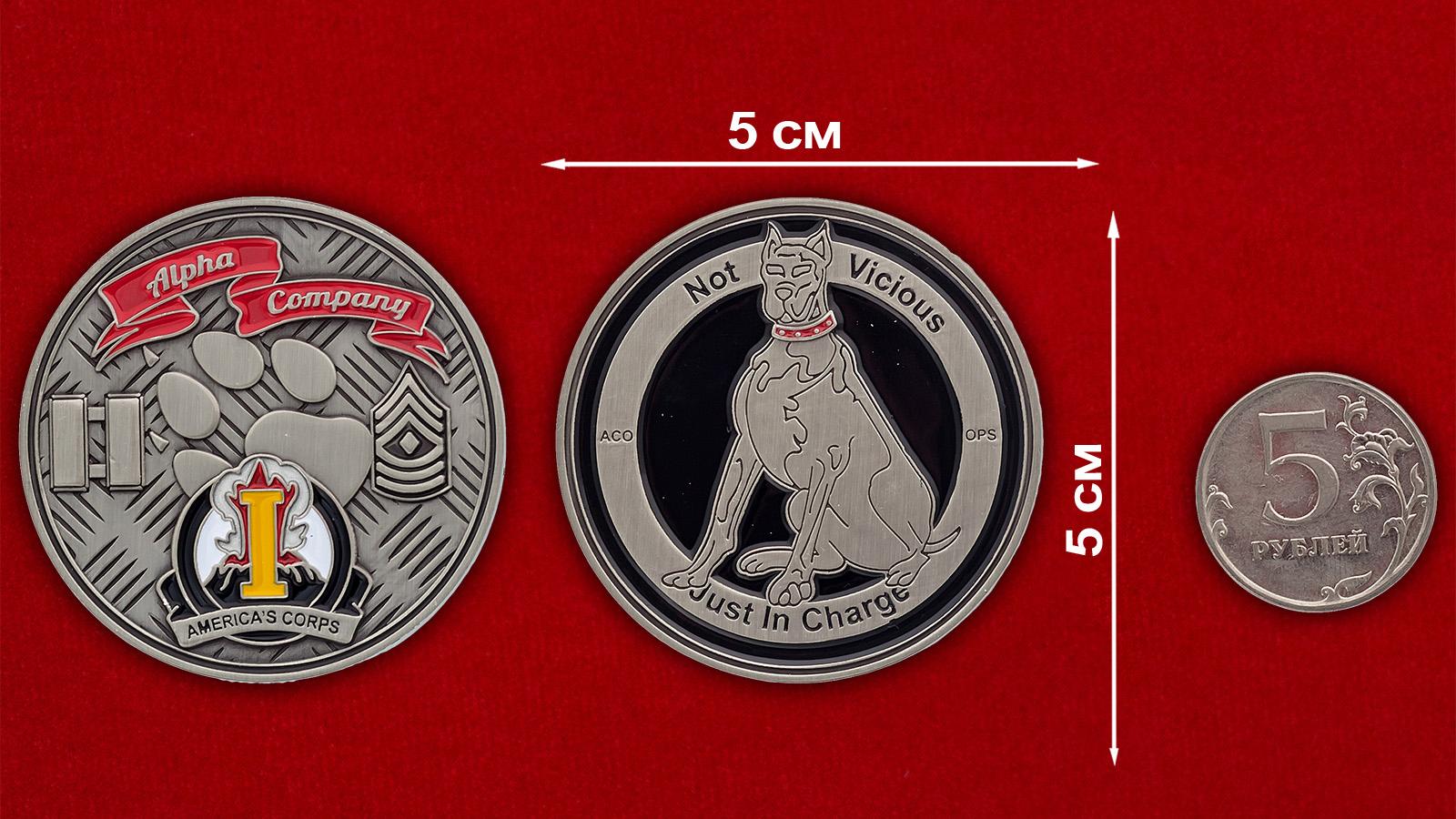 Челлендж коин I корпуса Сухопутных войск армии США