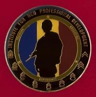 Челлендж коин Института профессионального развития сержантского состава на офицерских должностях Армии США