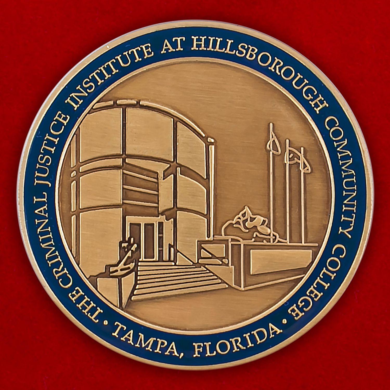 Челлендж коин Института уголовного правосудия в Тампе, Хиллсборо, Флорида