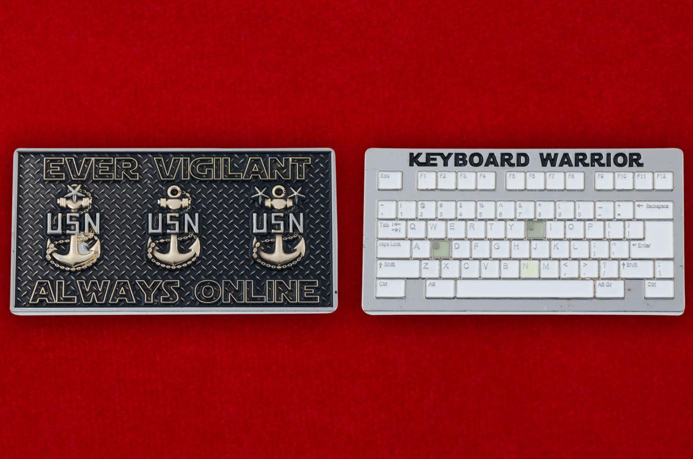 Челлендж коин IT-специалистов ВМС США - аверс и реверс