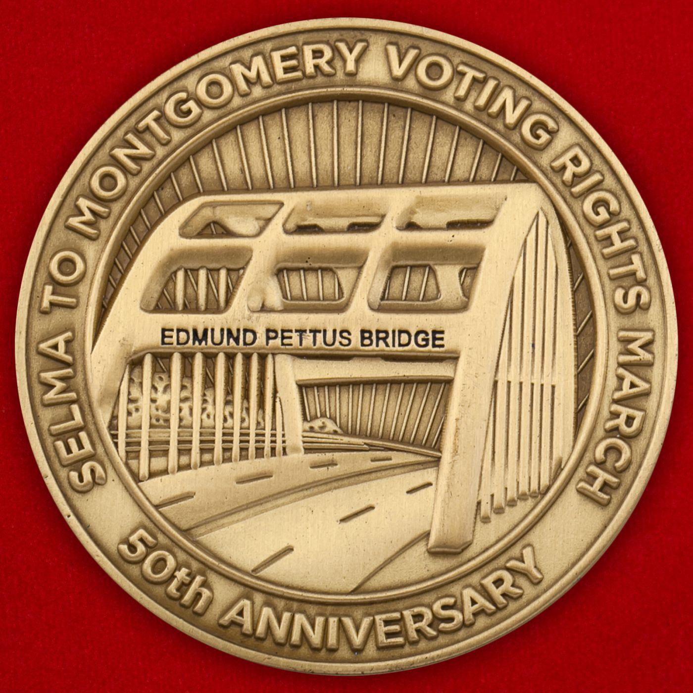Челлендж коин к 50-летию моста Edmund Pettus Bridge, Сельма, штат Алабама