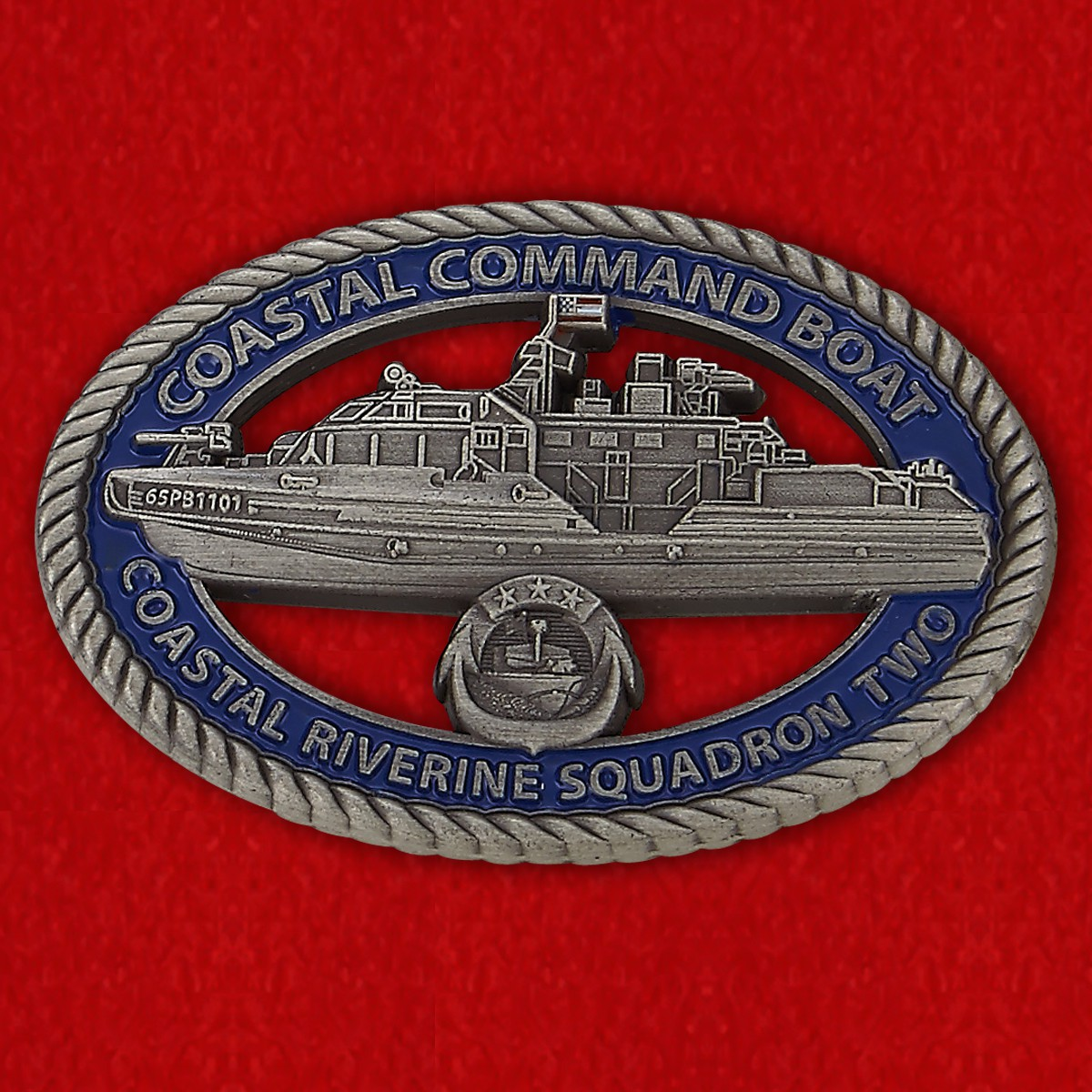 Челлендж коин катера 65PB1101 2-го дивизиона речных катеров Береговой охраны США