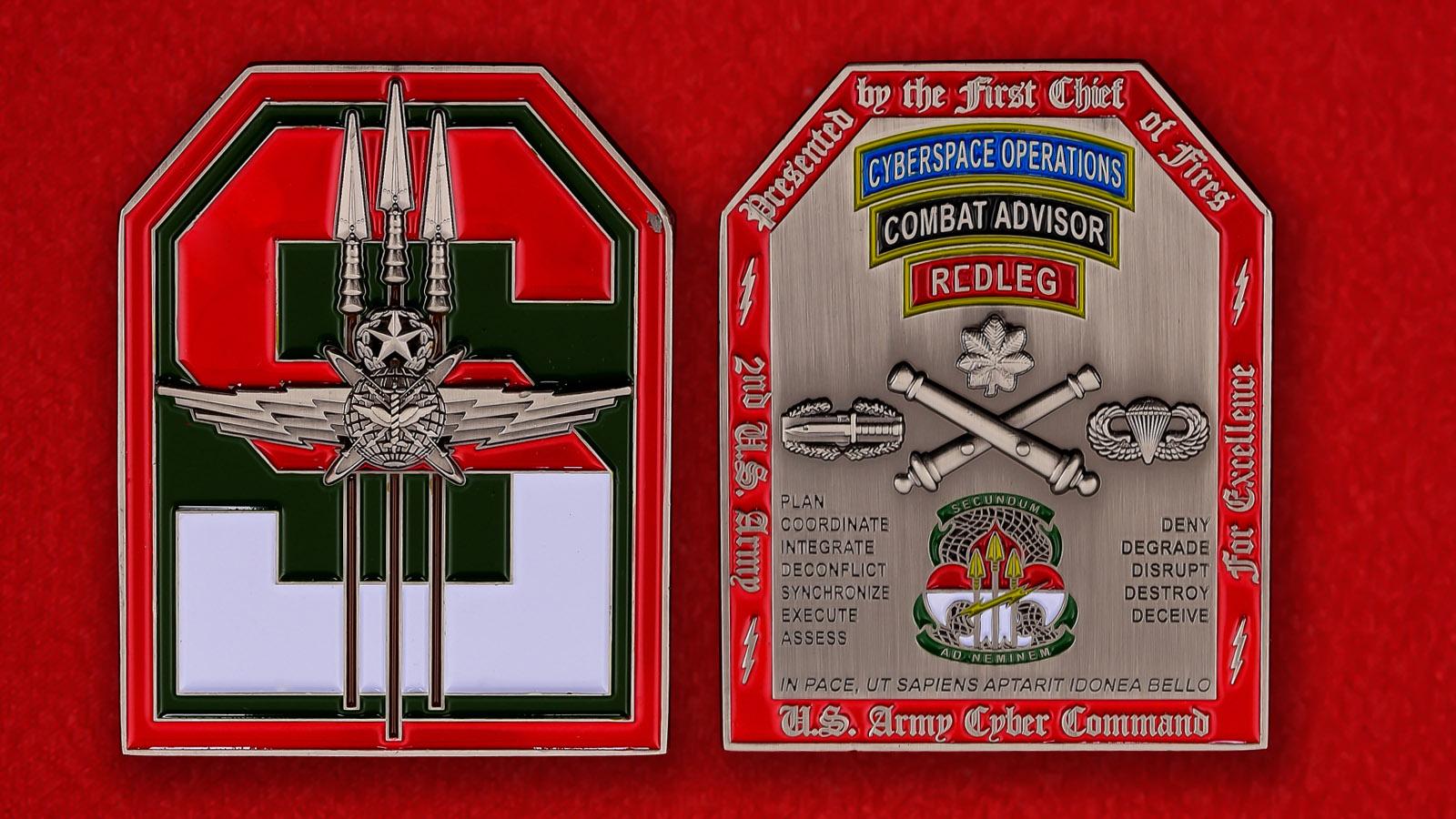Челлендж коин Кибернетического командования армии США