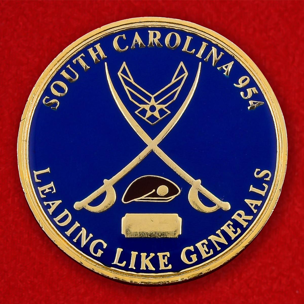 "Челлендж коин ""Колледж ВВС США в  Уэйд Хэмптоне, Южная Каролина"""
