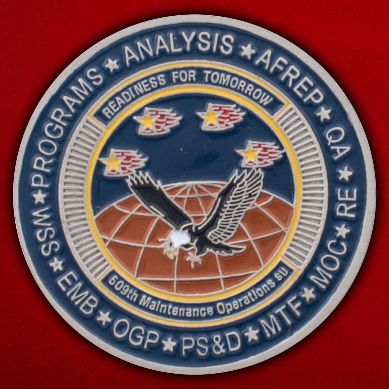 Челлендж коин командира 509-й эскадрильи Оперативного обеспечения
