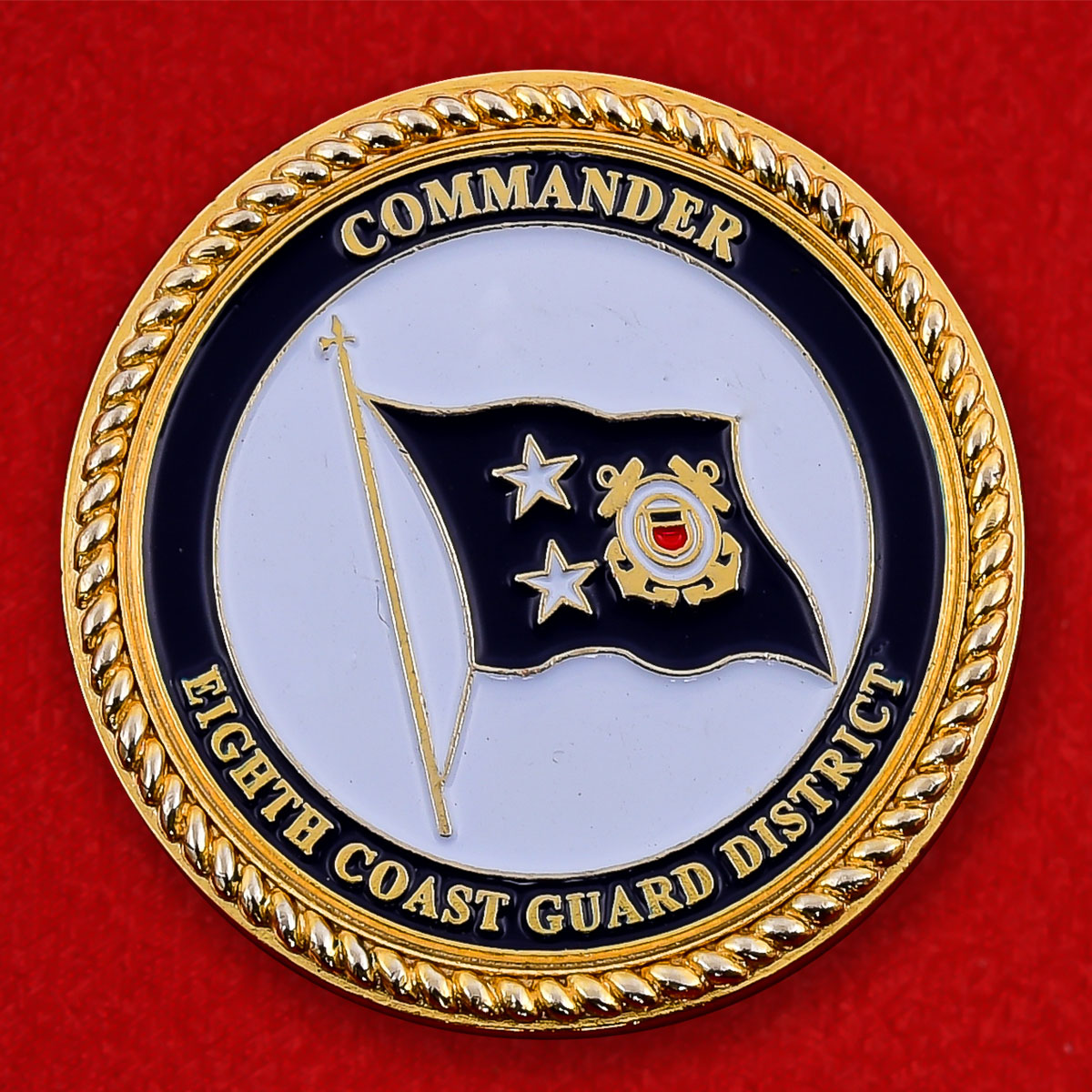 Челлендж коин командира Службы береговой охраны 8-го округа США