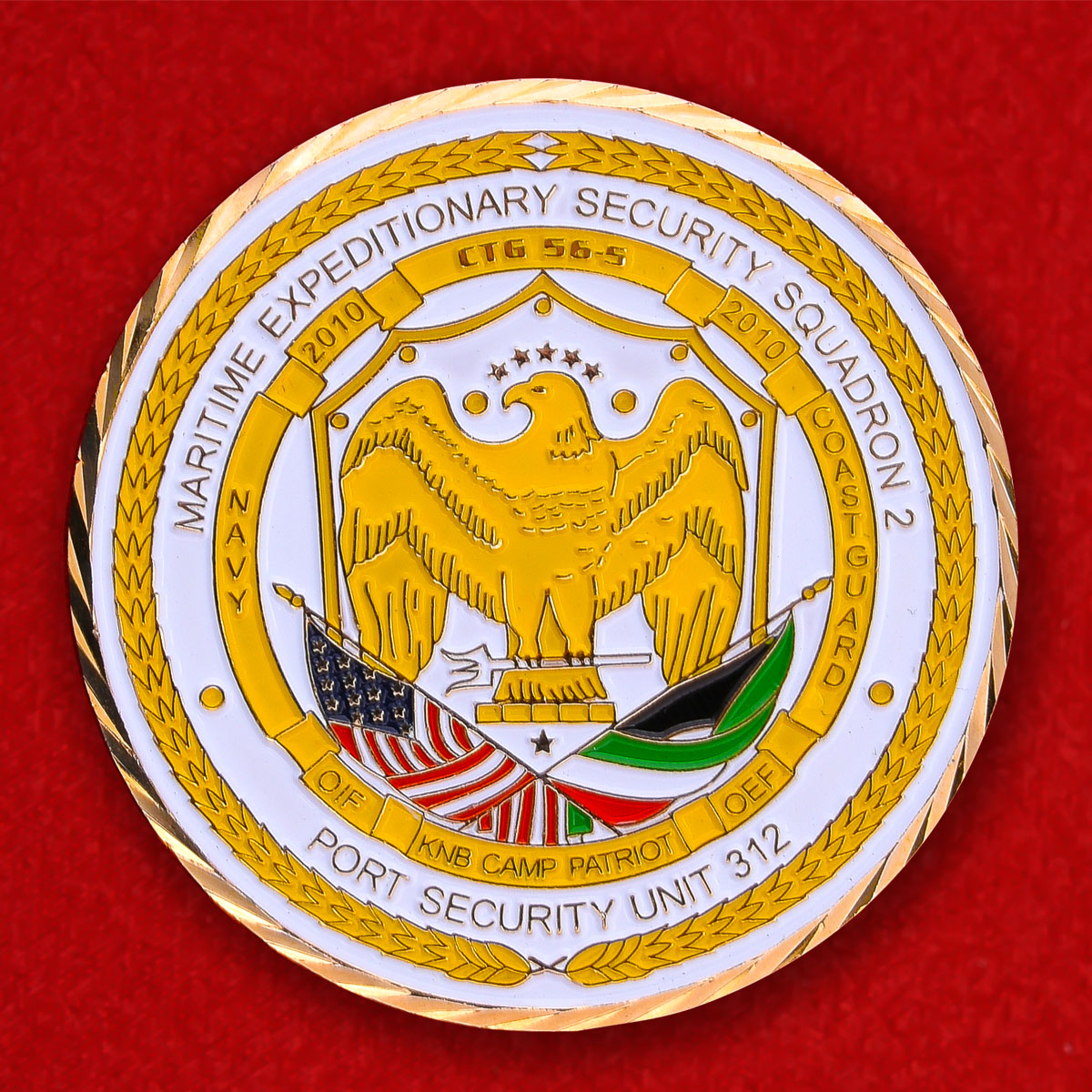 Челлендж коин командира Тактической группы Морских Экспедиционных Сил безопасности США в Кувейте