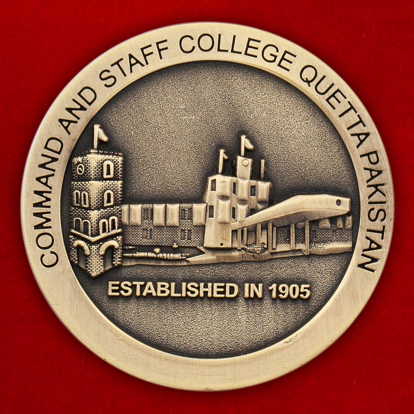 Челлендж коин Командно-штабного колледжа в Кветте (Пакистан)