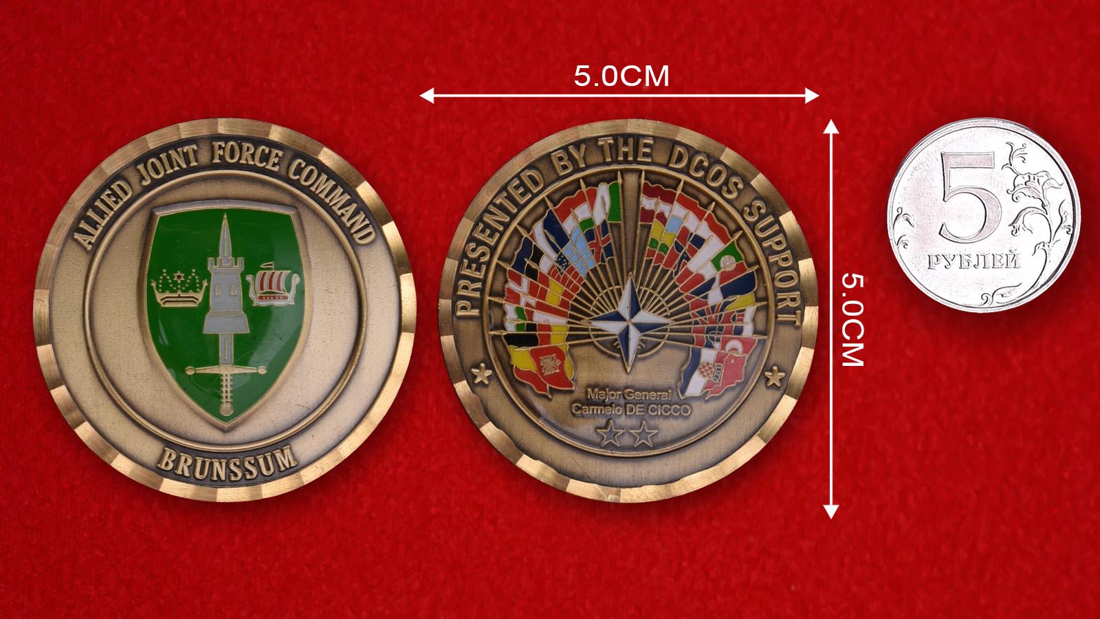 Челлендж коин Командования объединённой группировкой ОВС НАТО в Брюнсюме
