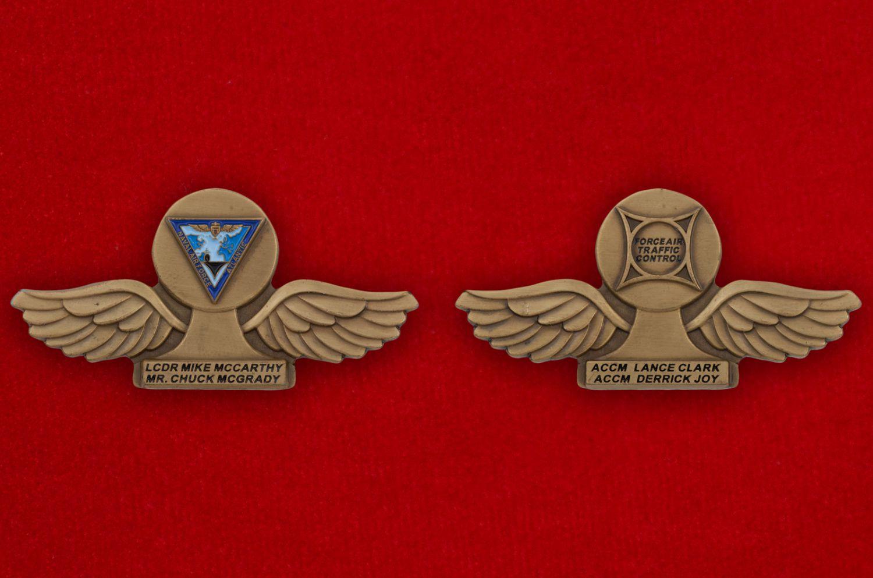 Челлендж коин Командующего воздушными силами Атлантического флота США - аверс и реверс