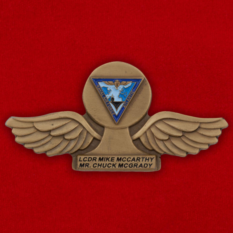 Челлендж коин Командующего воздушными силами Атлантического флота США