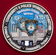 Челлендж коин Комитета по взаимодействию общественности и силовых структур города Нью-Йорк
