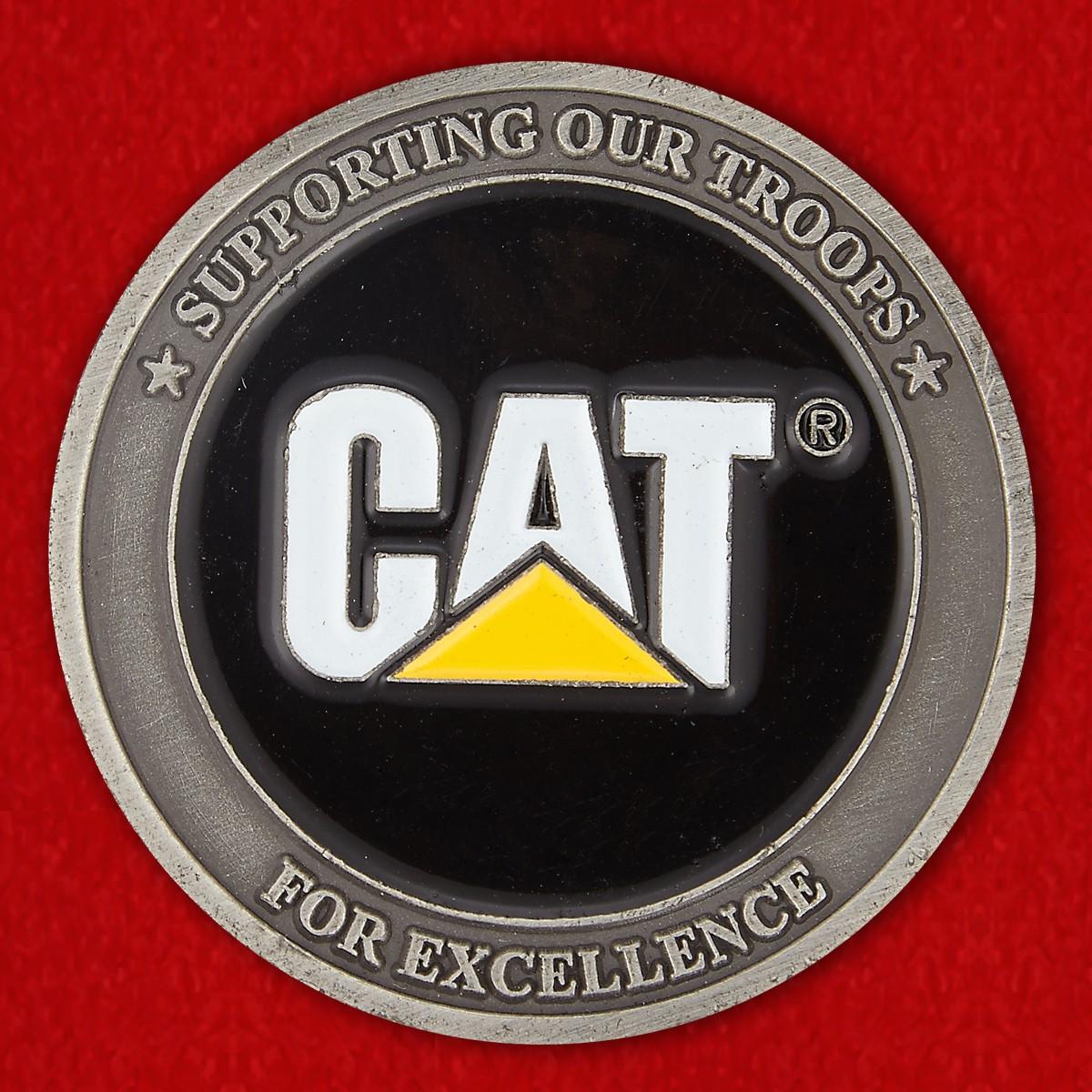 """Челлендж коин компании Caterpillar """"Поможем нашим войскам"""" - аверс"""