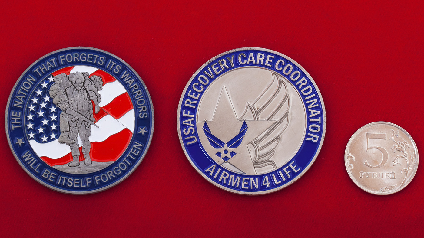 Челлендж коин координаторов по эвакуации и спасению личного состава ВВС США