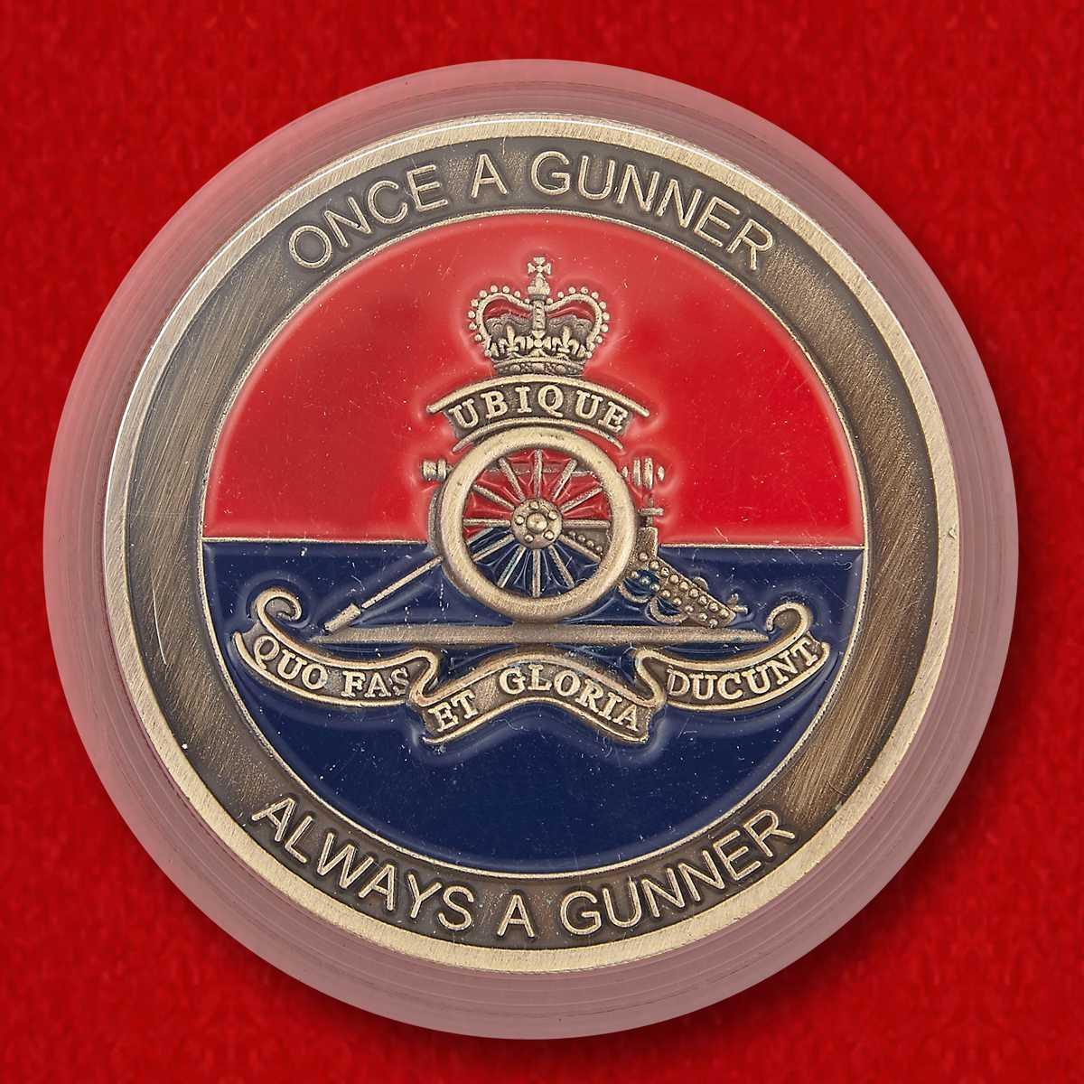"""Челлендж коин Королевской артиллерии Великобритании """"Святая Барбара - покровительница артиллеристов"""""""